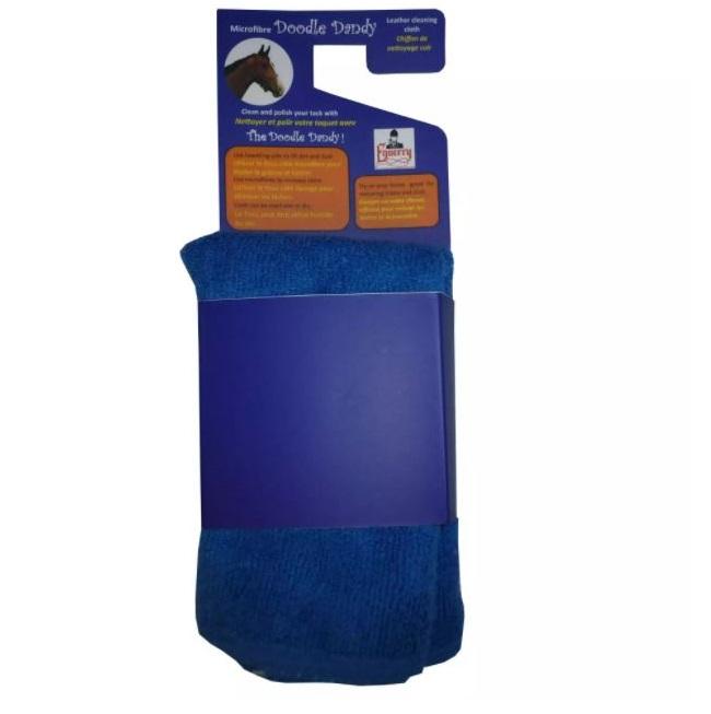 jemný modrý hadřík na čištění kůže