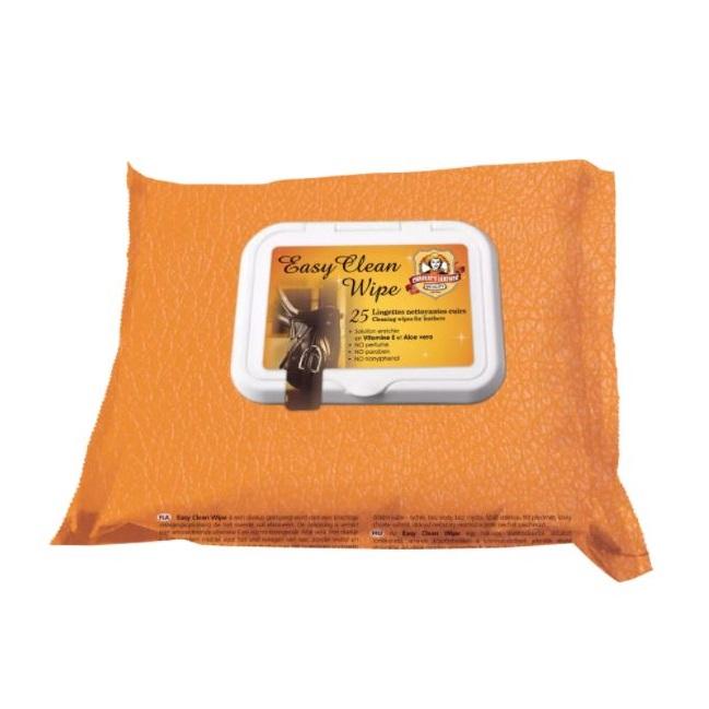 oranžové balení vlhčených ubrousků na kůži